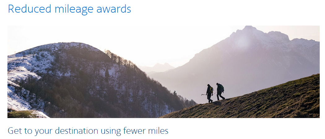 AAdvantage Reduced Mileage Award Screenshot