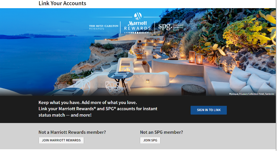 Link SPG and Marriott Rewards Accounts